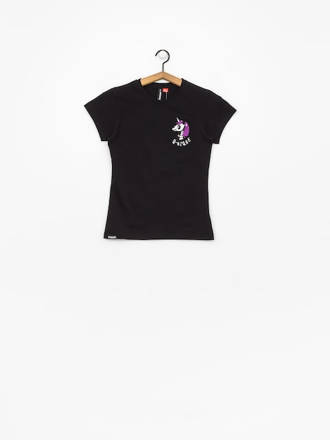 T-shirt Stoprocent Unicorn Wmn (black)