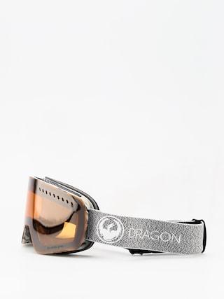 Gogle Dragon NFXs (mill lumalens silver ion/dark smoke)