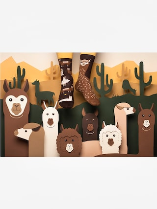 Skarpetki Many Mornings Fluffy Alpaca (brown)