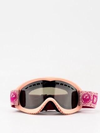 Gogle Dragon DX (pink/dark smoke)