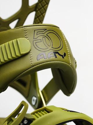 Wiązania snowboardowe Drake Fifty (army green)